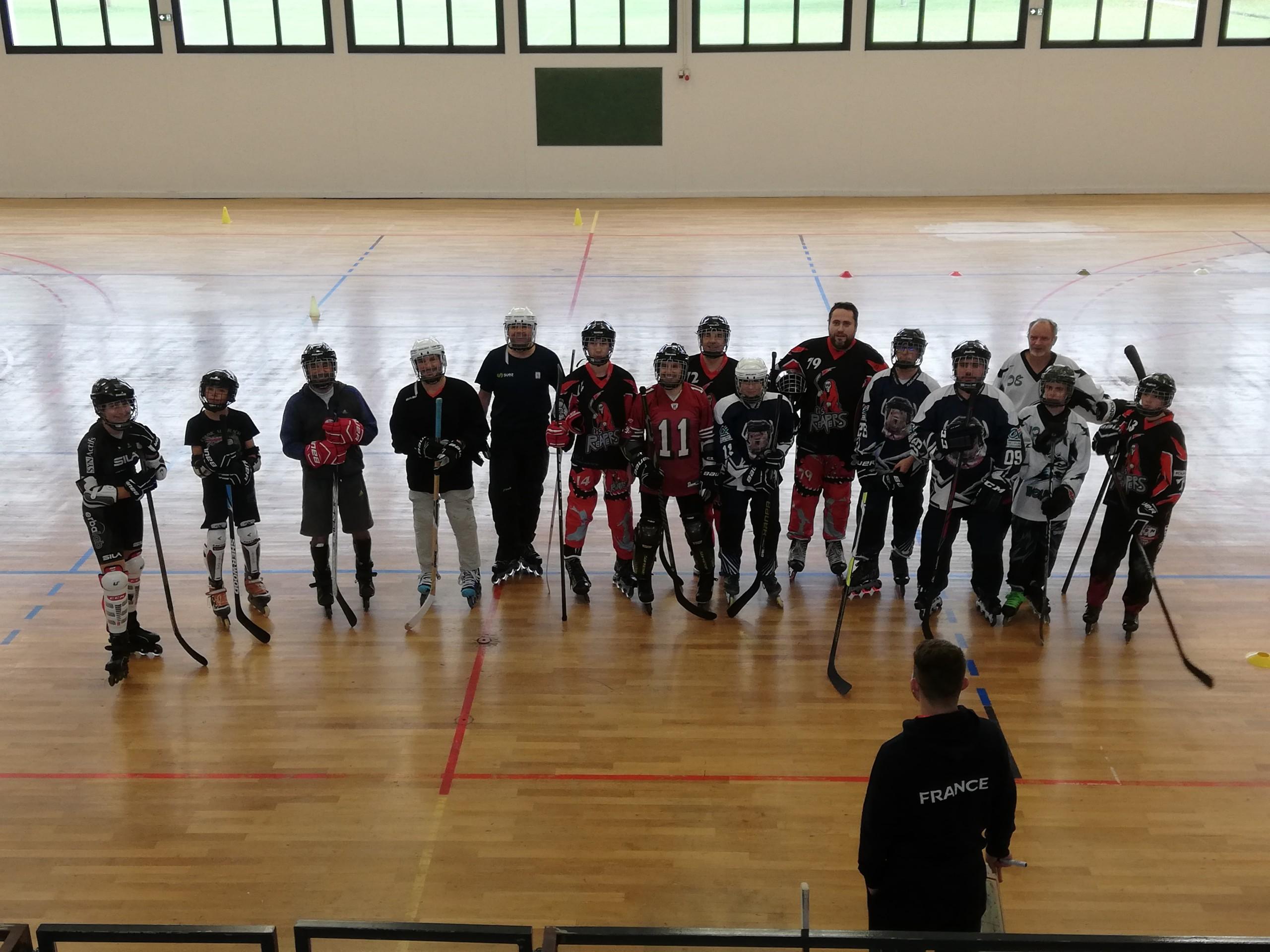 Premier stage roller hockey départemental en Sarthe